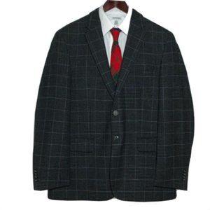 Jos A Bank 1905 Tweed Sport Coat Windowpane Hounds